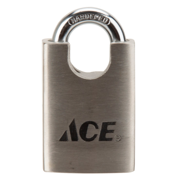 DIY / Tools - ACE Shrouded Padlock - Stainless Steel Casing - 1 3/4"