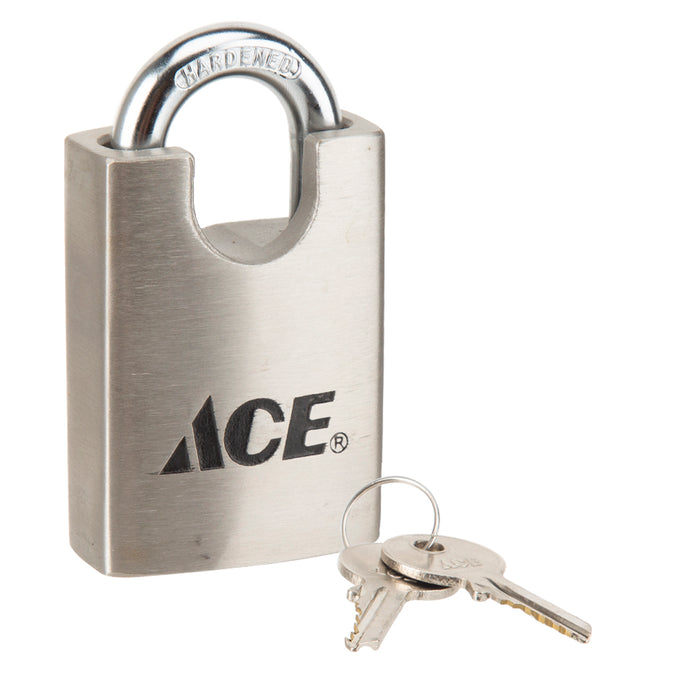 ACE Shrouded Padlock - Stainless Steel Casing - 1 3/4"
