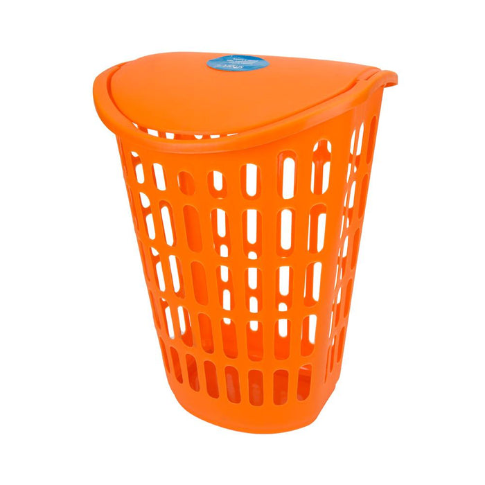 Smart Laundry Hamper Basket - Clothes Washing - Plastic - Orange