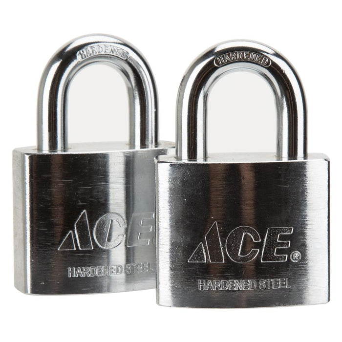DIY / Tools - ACE High Security Steel Padlock - Stainless Steel Casing - 2 3/8"
