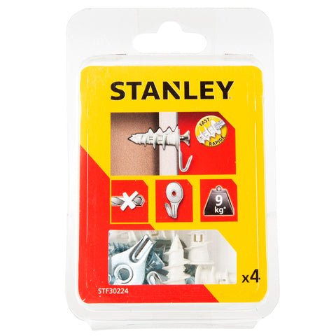 Stanley Nylon Sting Plugs, Hooks and Screws - 4 Pieces - 25mm