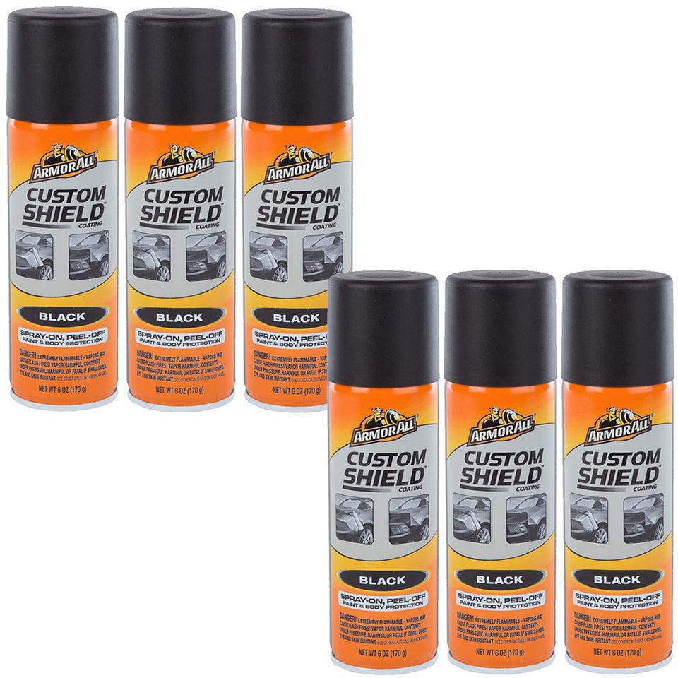 6x ArmorAll Spray On Peel Off Car Paint & Body Protection Spray  Black