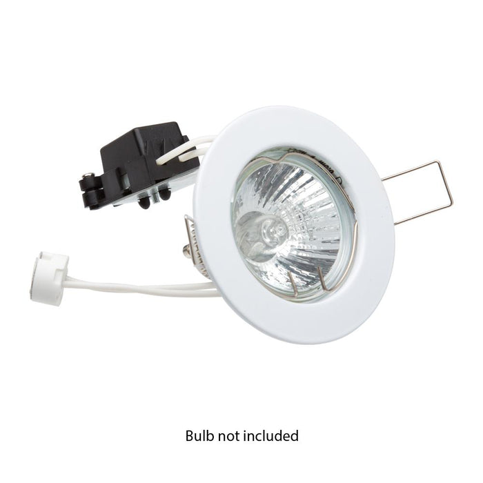 Newlec Fixed Downlighter Recessed Ceiling Spotlight 50W 12V - White