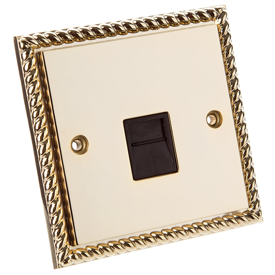 Philex Master Telephone Extension Socket - Georgian Gold Plated