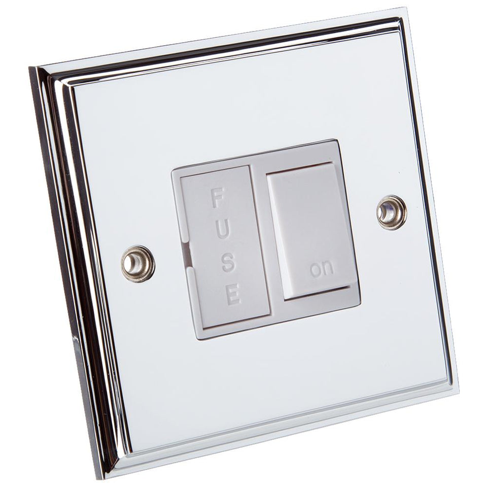 Philex Switched Fused Spur  Electrical Switch - Polished Chrome 13 Amp