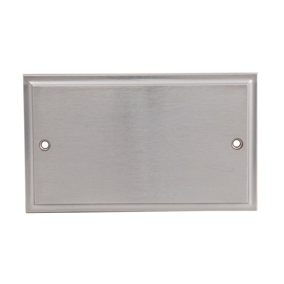 Philex Double Electrical Blanking Plate - Victorian Steel - 145 x 85mm