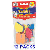 12x Pritt 3D Kids Art & Craft Foam Shapes -Party Food- Various Colours