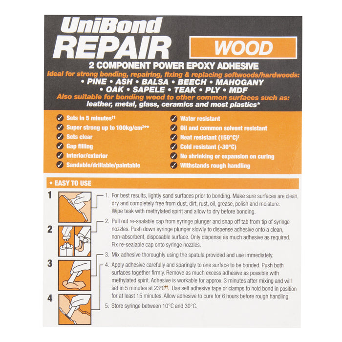 Unibond Wood Repair Power Epoxy