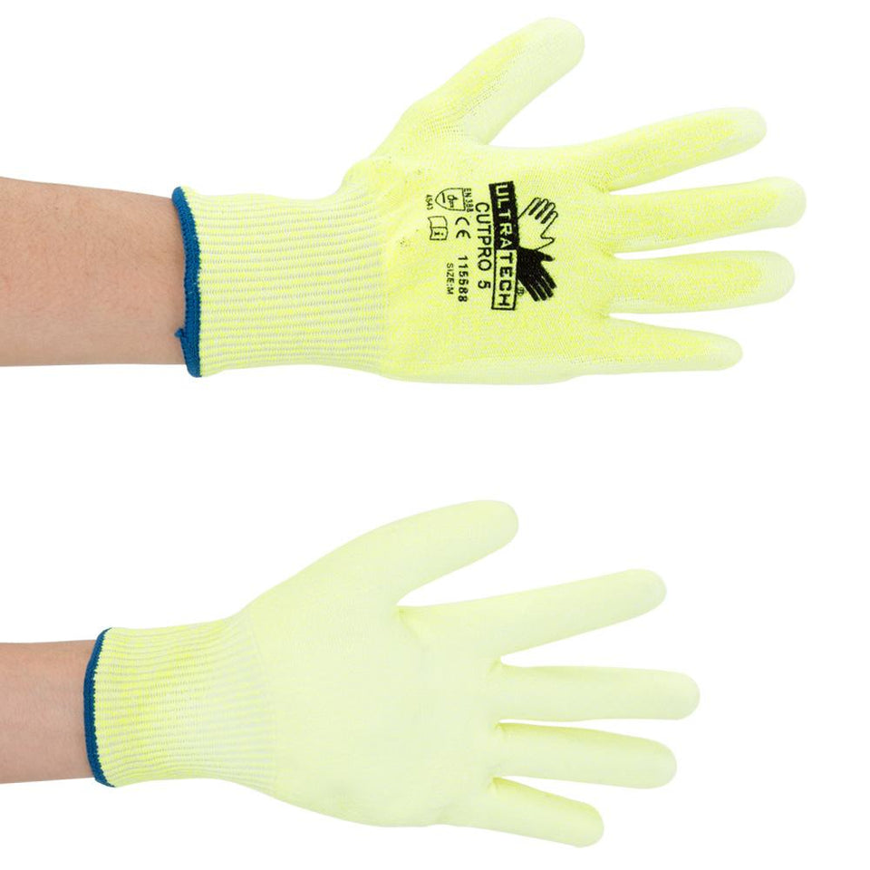 DIY & Tools - Safety Gripped Palms Work Gloves Yellow Medium
