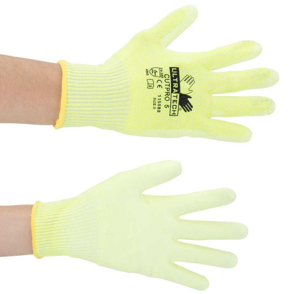 DIY & Tools - MCR Safety Gripped Work Gloves Yellow Small