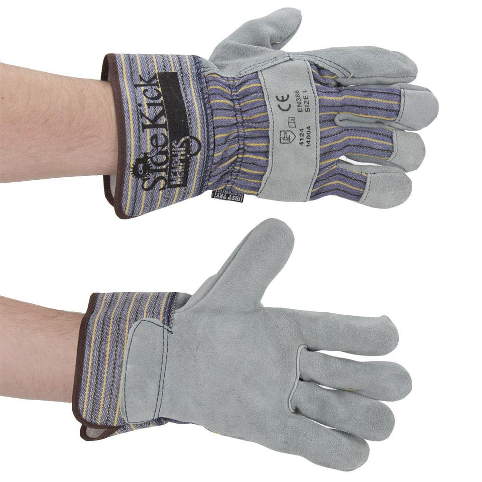 DIY & Tools - MCR Safety Memphis Sidekick Safety Cuffs Workwear Gloves Grey Large