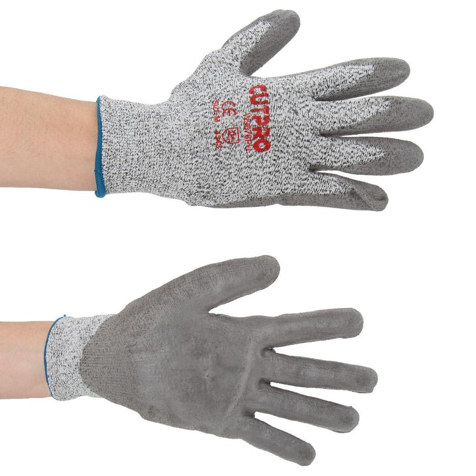 MCR Safety Medium Cutpro Workwear Gloves - Gripped Palms - Grey