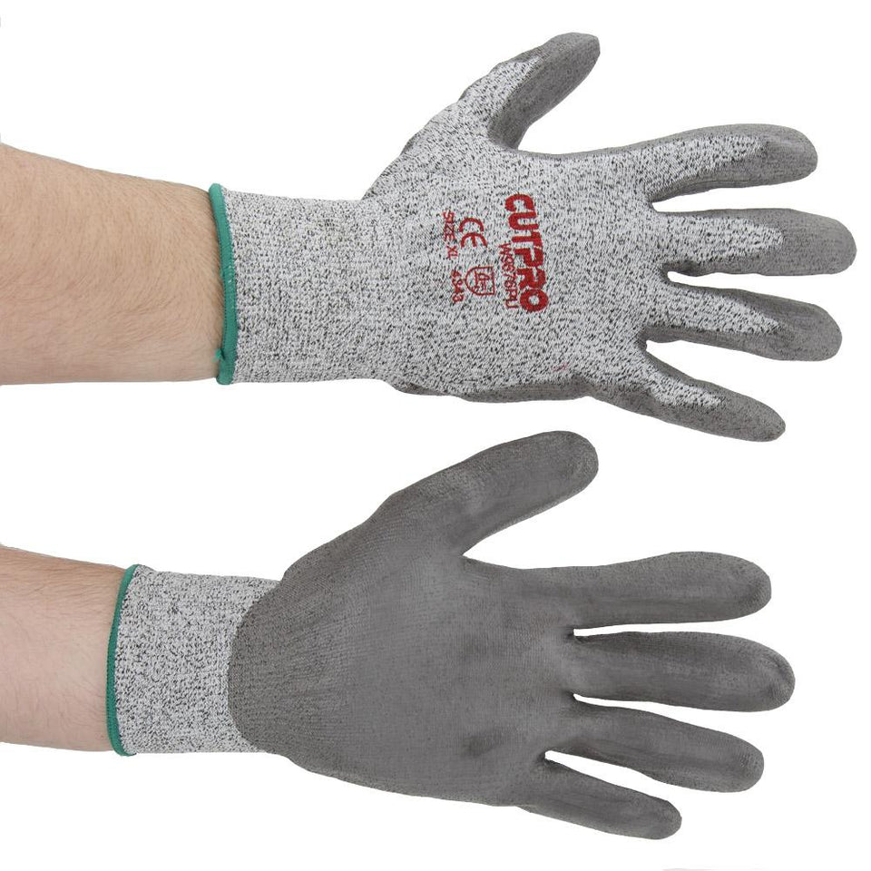 DIY & Tools - Cutpro Gripped Palms Work Gloves Grey Large