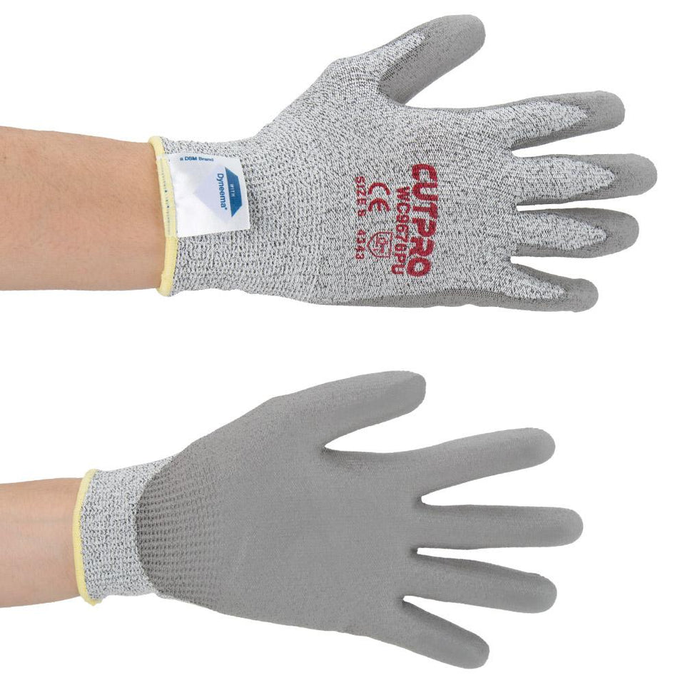DIY & Tools - Safety Gripped Palms Work Gloves Grey Small