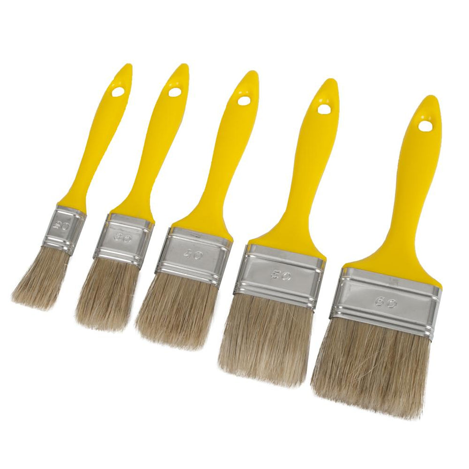 DIY & Tools - Stanley Paint Brush Set - 5 Piece