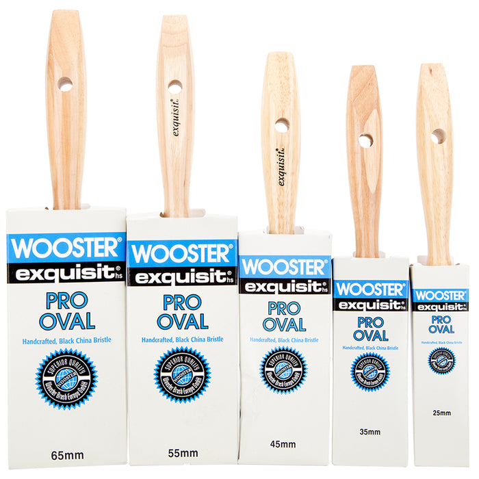 Wooster Exquisite Pro Oval Paint Brush Black China Bristle