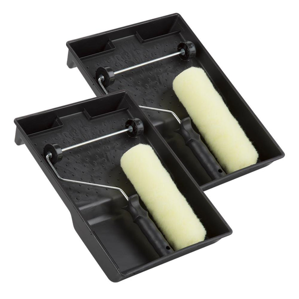 DIY & Tools - Paint Roller & Tray Set Medium Pile 2 Pack 9""