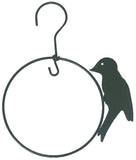 AcreWood Hanging Bird Feeding Perch Ring Green 13cm