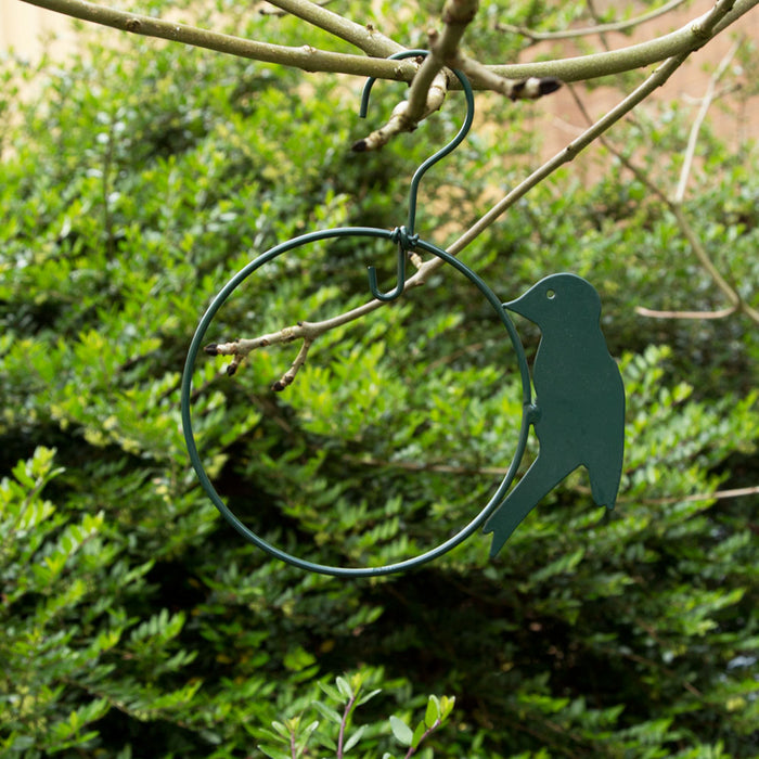 Gardening - AcreWood Hanging Bird Feed Perch Ring Green 13cm