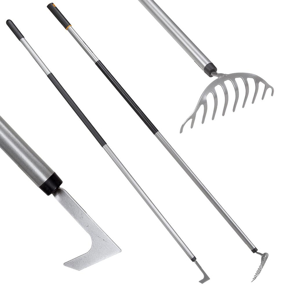 Fiskars Lightweight Gardening Tool Set - Patio Knife & Rake