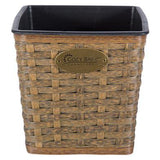 Garden Decor - 4 x Garden Flower Plant Pot Square Rattan