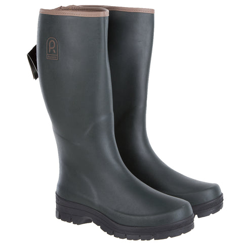Rouchette Womens Full Green Wellington Boots - Rubber Wellies
