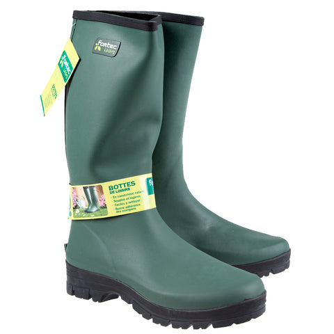 Rouchette Fortec Men's Wellington Boots - Green Wellies