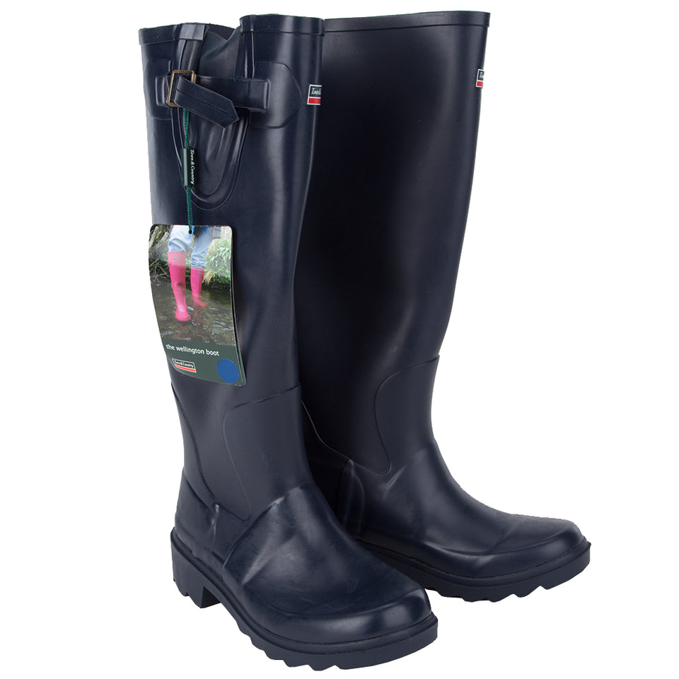 Wellies - Female Wellington Boots - Navy - Size 3