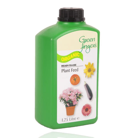 Green Fingers Organic Plant Feed - Ready To Use - 1.25 Litre