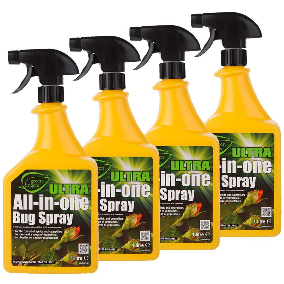 Green Fingers Garden Bug Spray - 4 pack - Size / Yellow