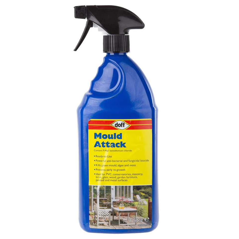 Gardening - 1 x Doff Fast Mould Attack Cleaner 1 Litre
