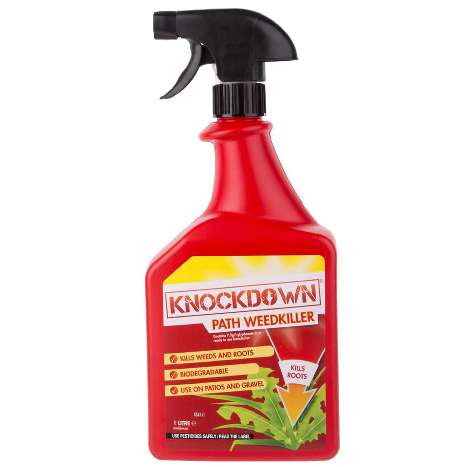 1 x Knockdown Fast Acting Path Weed Killer - 1 Litre