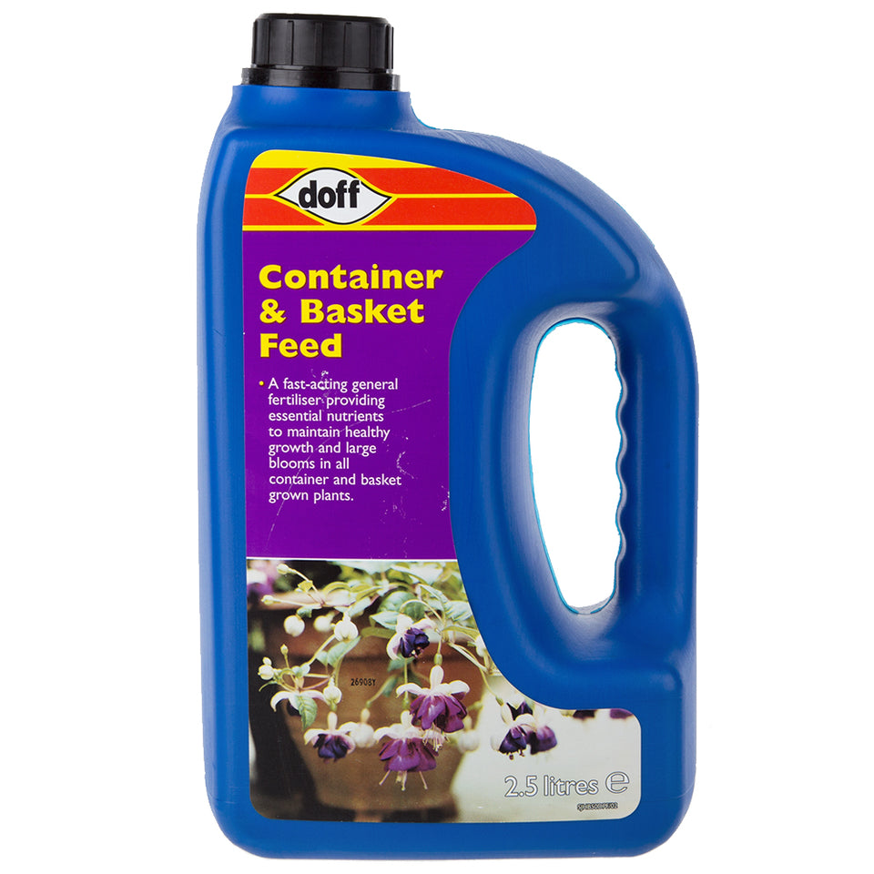 Gardening - 1x Doff Container & Basket Plant Feed 2.5 Litre