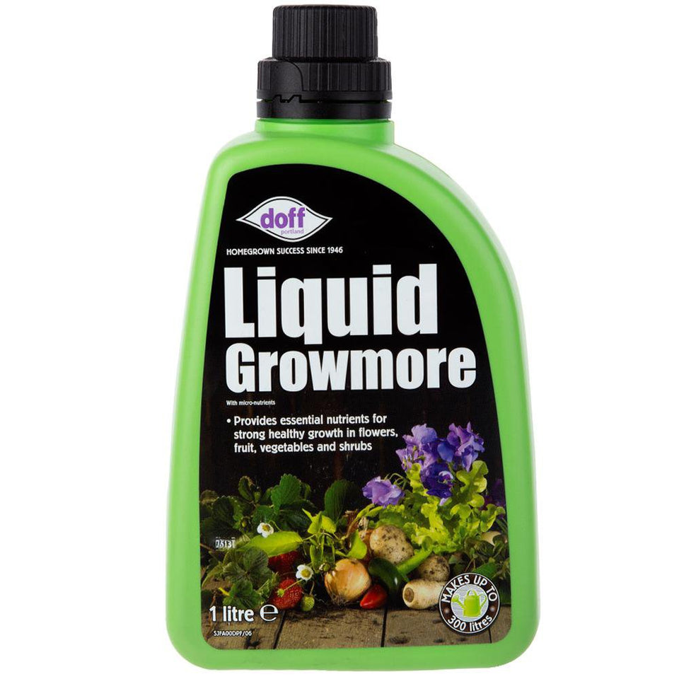 1x Doff Growmore Garden Fertiliser Liquid - SJFA00DPK/07 - 1 Litre