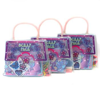 3x Amscan Children's Arts & Crafts 'Scrap Pack' Party Loot Bag - Pink