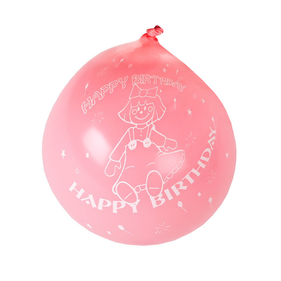 30x Amscan Girls Latex Birthday Party Celebration Balloons -Pink&White