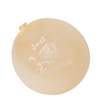 30x Amscan Latex Wedding Party Celebration Balloons-Just Married-Cream