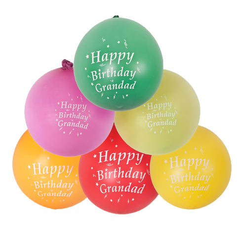 30 x Amscan Latex Party Balloons - Happy Birthday Grandad - Assorted
