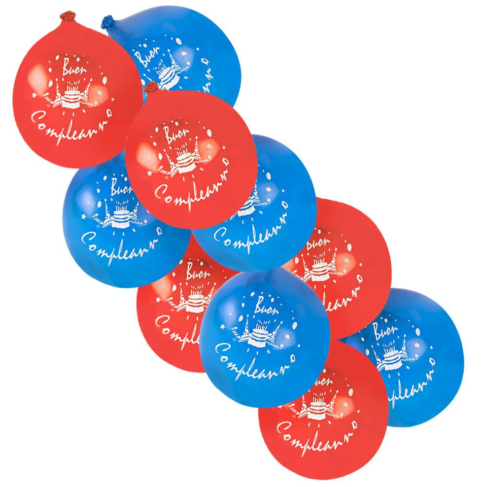 30 x Amscan Latex Party Balloons - Happy Birthday (Italian)