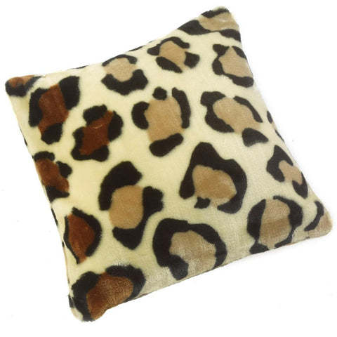 Luxurious Soft faux Fur Cushion Cover- Leopard - 45cm