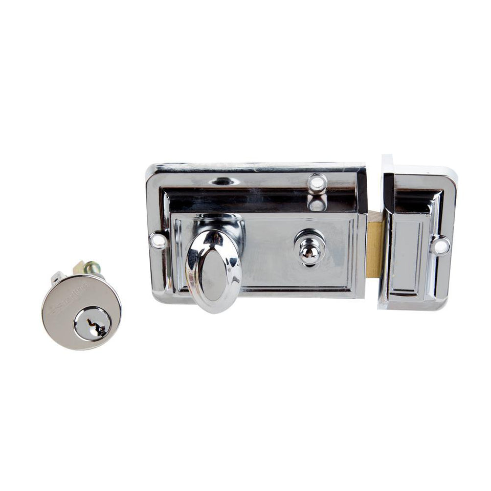 Sterling Standard Style Night Latch - Door Lock - Chrome Plated