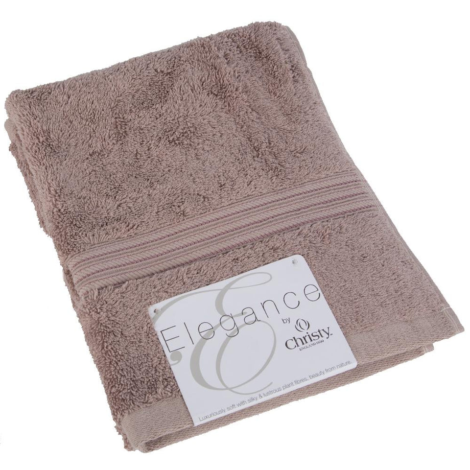 Christy Luxury Cotton Hand Towel - Elegance Sable Brown - 700gms - 81 x 44cm