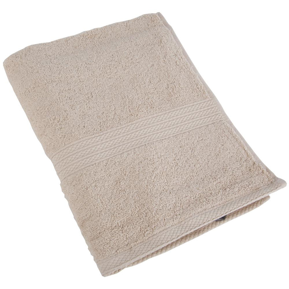 Christy Luxury Cotton Hand Towel - Georgia Linen Brown 550GSM 50x90cm