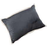 Christy Soft Cushion Home Decor Horizon Charcoal Black 47cm x 32cm