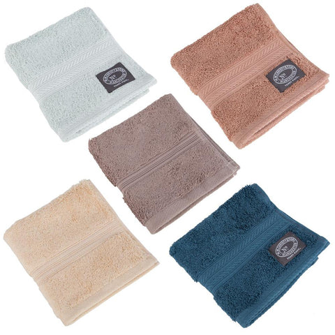 Christy Egyptian Cotton Flannel Facecloths - 33 x 33cm - Various Colours