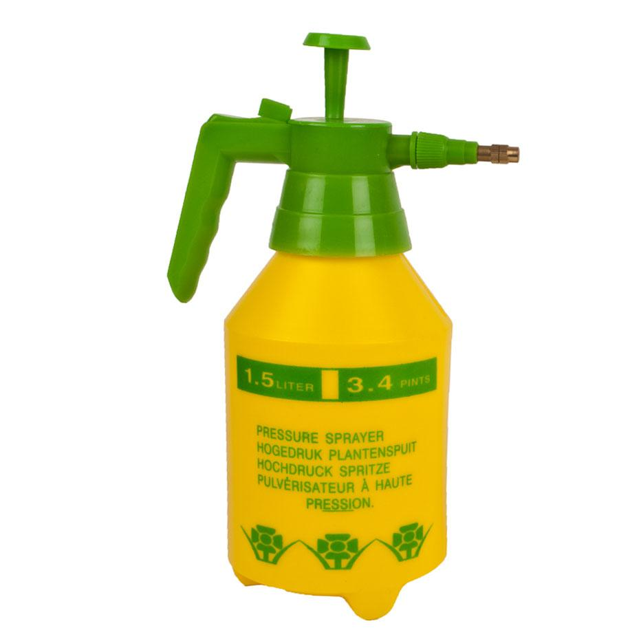 Garden Pressure Water Pump Sprayer - Yellow - 1.5L