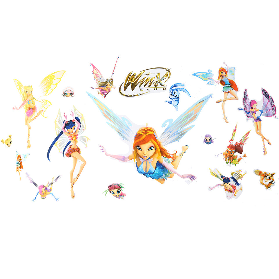 D-C-Fix Decorative Self-Adhesive Removable Decals - 17 Stickers - Winx