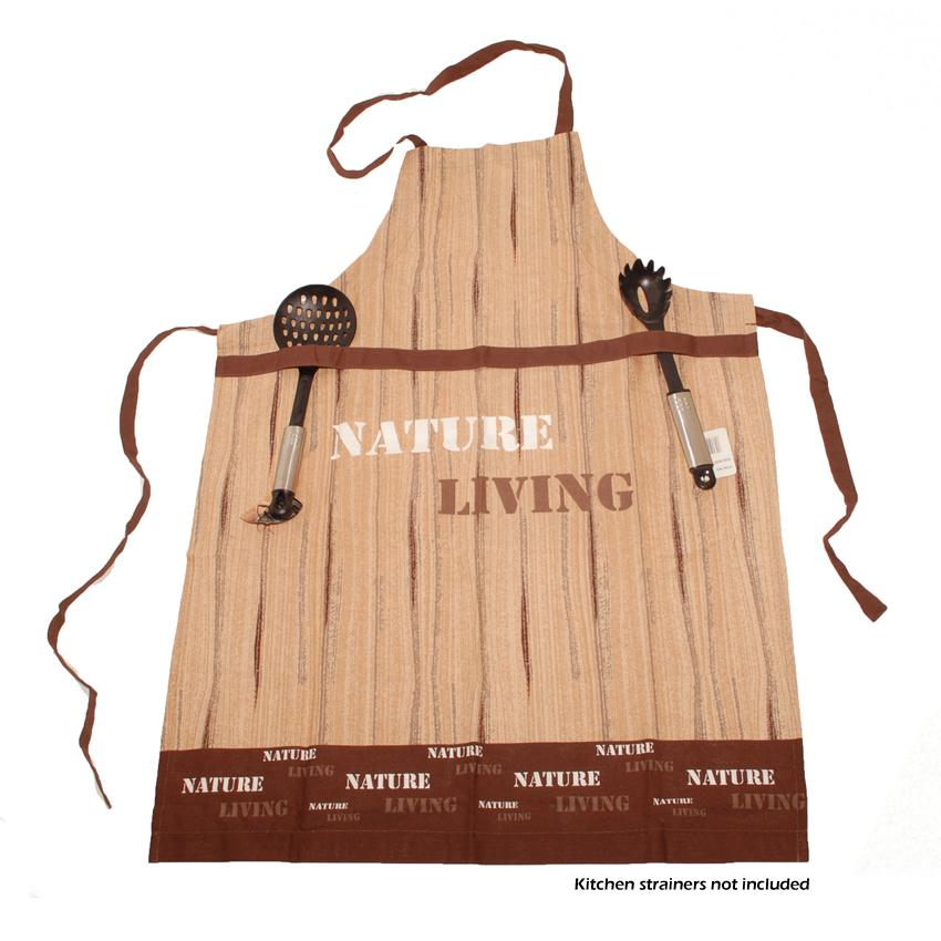 Venilia Kitchen Cooking Apron - 100% Cotton - Nature/Living 70x100cm