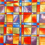 Alkor Self Adhesive Glass Foils - Mosaic Orange/Red -  67.5cm x 1.5m