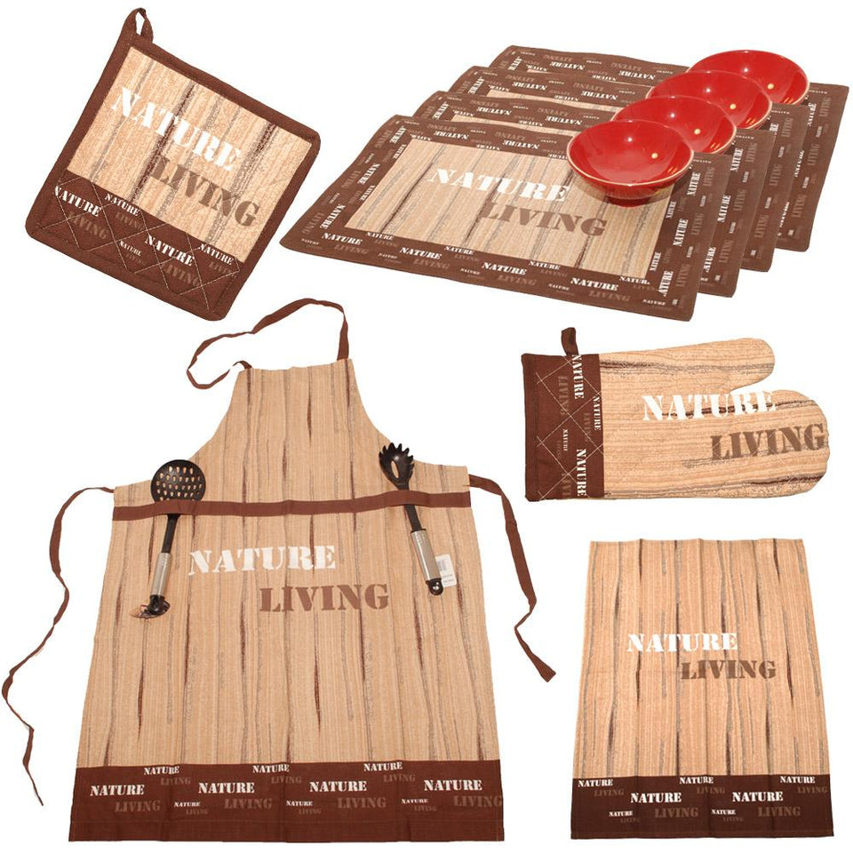 Kitchen - Kitchen Tableware Linen With Apron Nature Living